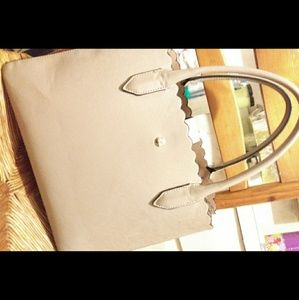 ❗H&M Sleek Tanned Leather Tote Bag